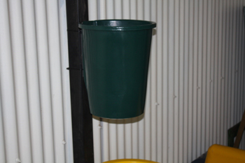 wall mounted bin plastic open top round