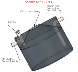 plastic septic tank diagram