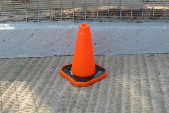 small plastic road cone
