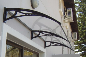 awning shawson plastics clear black bracket