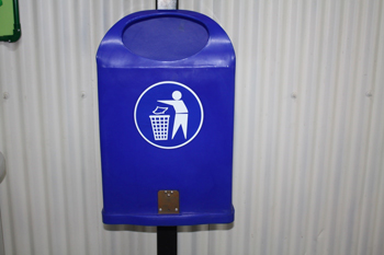 wall mounted bin plastic bottom discharge