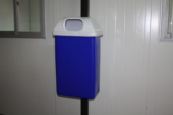 wall mounted plastic bin rectangular