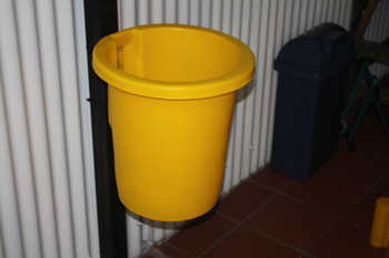 wall mounted open top bin plastic
