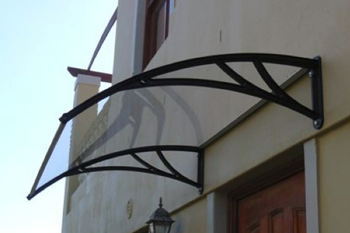 awning shawson above door