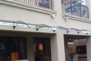 awning shawson above balcony