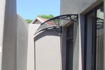 awning  shawson against wall plastics
