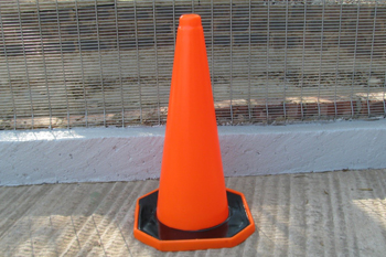 large plastic road cone