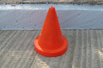 small strong road cone