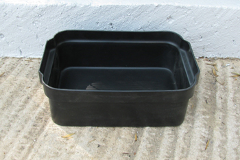 small black polyethylene feedbin