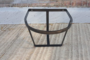 steel round bucket rack