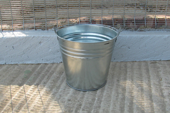 12 litre metal bucket