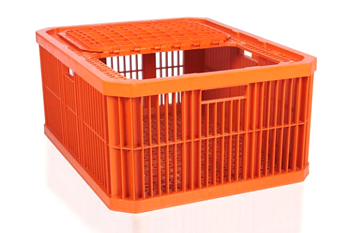 plastic chicken crate