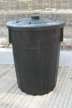 no hot ash dustbin 85 litre with lid and metal handles