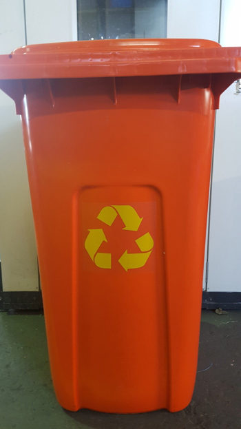recycle sticker trashcan