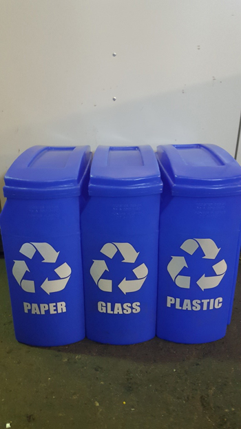 dustbin sticker glass
