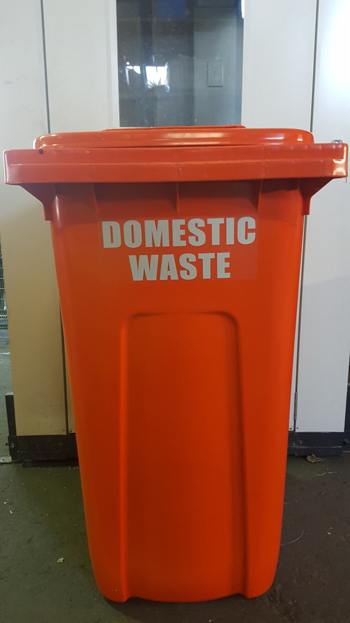 dustbin recycling stickers waste