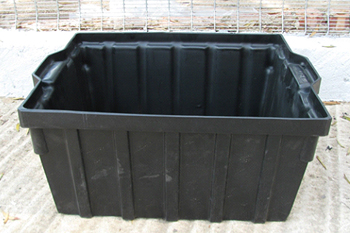 large plastic feedbin