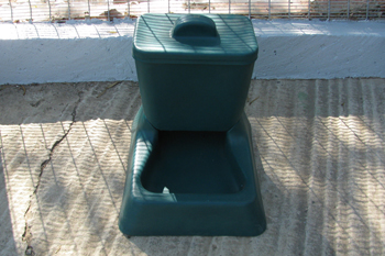 plastic canine feeder