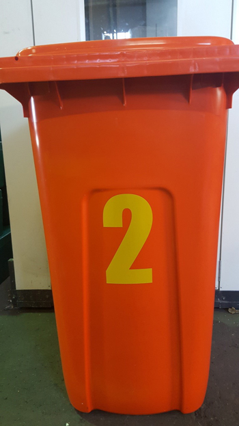 sticker numbers dustbin