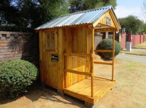 wooden guardhouse