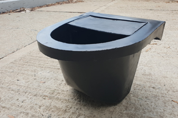 black large heavy duty rubber feedbin