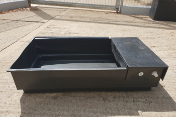 plastic 170litre water trough